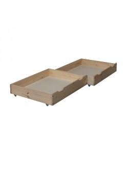 """2 Bettrollkasten""""trend"""" 85x72 cm Holz massiv, mit Rollen"""