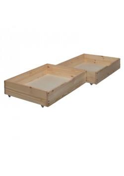 2 Bettrollkasten  95 x 72 cm, Massivholz