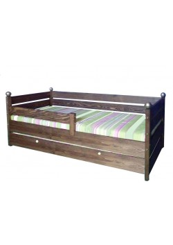 "Kinderbett ""Comtesse"" mit Bettrollkasten, Rost, Massivholz FSC® zertifiziert"