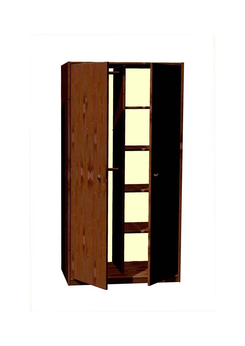 kleiderschrank pur 2 t rig massivholzm bel bio qualit t direkt vom deutschen hersteller. Black Bedroom Furniture Sets. Home Design Ideas