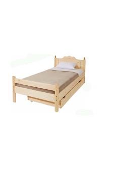 Bettkasten mit Rost als Zusatzbett 85 x 196 x 17 cm Holz mit Rollen
