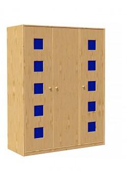 """Kleiderschrank """"Karo"""", 3 Türen,  Massivholz ohne Schadstoffe, direkt vom deutschen Hersteller"""