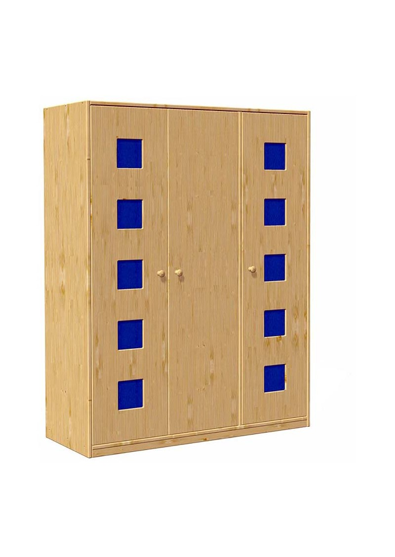 kleiderschrank karo 3 t ren massivholz ohne. Black Bedroom Furniture Sets. Home Design Ideas