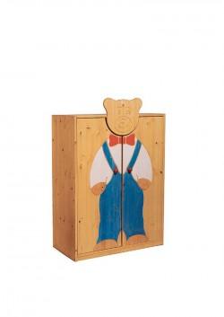 """Kleiderschrank """"Bärenkind"""" Massivholzmöbel, handbemalt, Bio Qualität ohne Schadstoffe"""