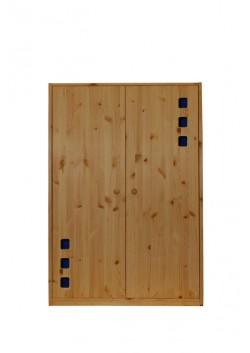 """Kleiderschrank """"Karo"""", 2 Drehtüren, Massivholzmöbel , direkt vom deutschen Hersteller online kaufen"""