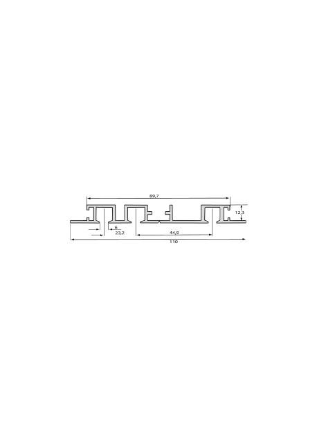 Gardinenschiene Einbauvorhangschiene 3-Lauf