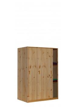Kleiderschrank mit Schiebetüren, Massivholzmöbel, Bio Qualität aus nachhaltiger Waldwirtschaft