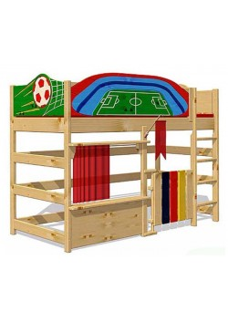 "Hochbett, Spielbett ""Euroleague"", Massivholz, FSC® zertifiziert,  made in Germany"