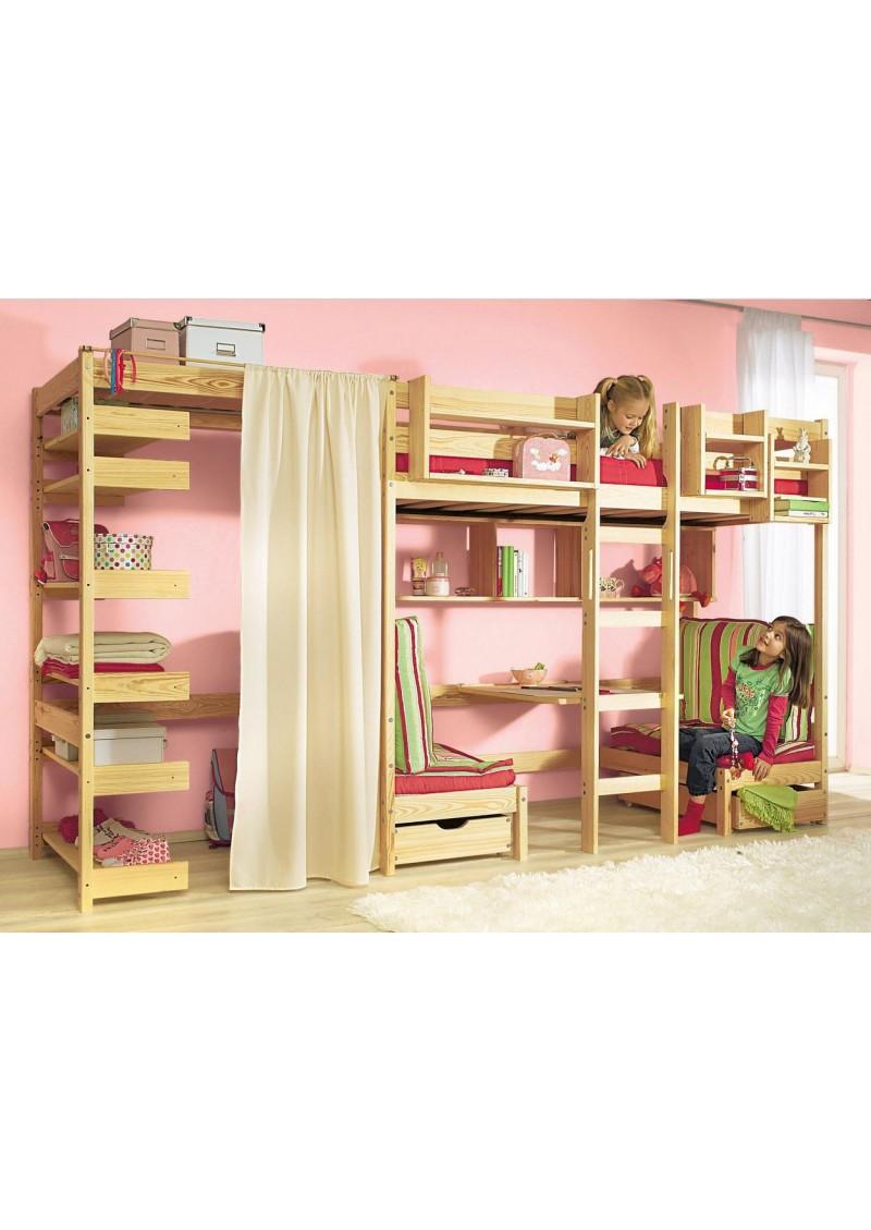hochbett standregal kronach holz massiv kleiderschrank silenta produktions gmbh. Black Bedroom Furniture Sets. Home Design Ideas