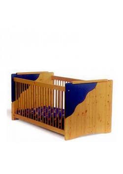 """Babybett """"Welle"""" Kinderbett aus FSC ® zertifiziertem Massivholz, umbaubar zum Schlafsofa"""