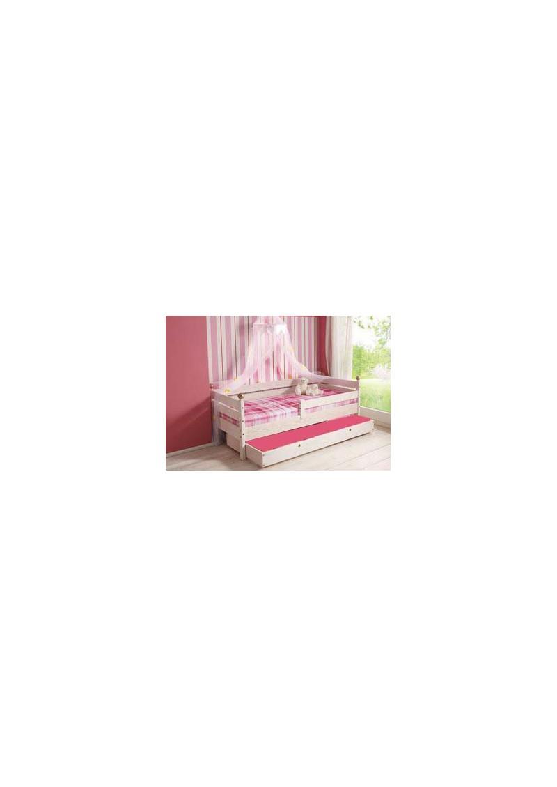 Kinderbett comtesse 70x160 cm prinzessinenbett aus holz fsc mit rausfallschutz silenta for Kinderbett 70 x 160