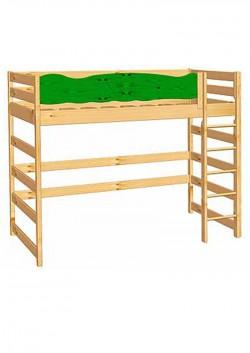 """Hochbett """"Robby"""" Holz massiv, Kinderbett  mit Rausfallschutz, Kinderzimmermöbel  direkt vom Kindermöbelhersteller"""