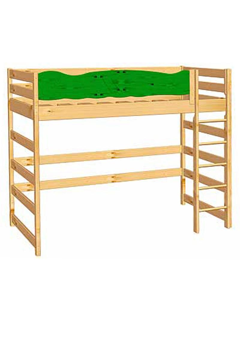 kinder hochbett robby holz massiv mit rausfallschutz rost silenta produktions gmbh. Black Bedroom Furniture Sets. Home Design Ideas