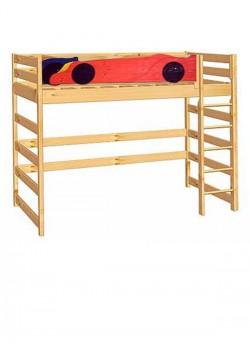 """Kinder Hochbett """"Formel 1"""" mit Rollrost, Holz massiv direkt vom Kindermöbel Hersteller"""