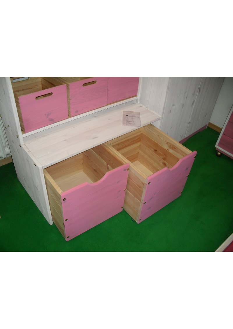 regalsystem aus holz universalregal aufbewahrungsm bel mit boxen auf rollen silenta. Black Bedroom Furniture Sets. Home Design Ideas