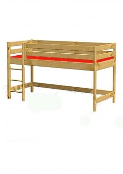 """Hochbett Holz """"primus 1"""", mit Rollrost Holz massiv, direkt vom deutschen Kindermöbelhersteller"""