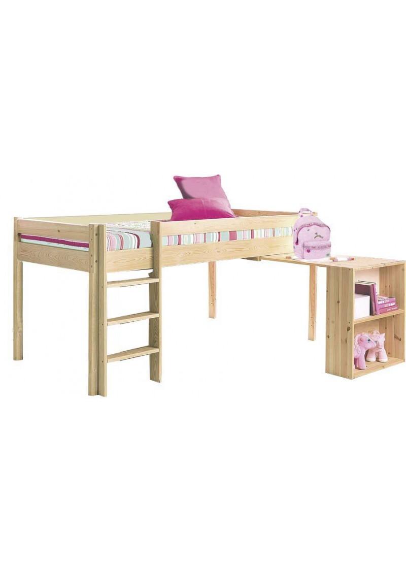 hochbett ebrach mit schreibtisch mit rollrost. Black Bedroom Furniture Sets. Home Design Ideas