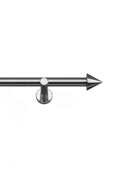 Vorhanggarnitur Stilgarnitur Edelstahloptik Ø 16mm