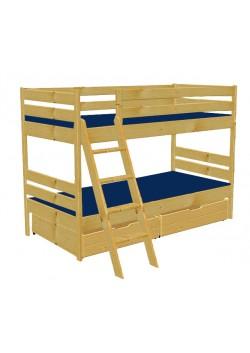 """Etagenbett """"primus"""", Kindermöbel aus Holz massiv,  geölt, teilbar,  mit Rost, direkt vom deutschen Hersteller"""