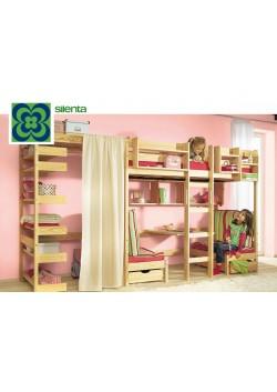 """Hochbett """"Kronach"""", aus Holz mit Bank und Tisch  Massivholzkindermöbel  online direkt vom Hersteller"""