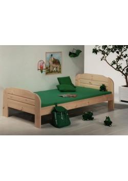 """Einzelbett """"Form 22"""" Holz massiv, 100 x 200 cm, 140 x 200 cm"""