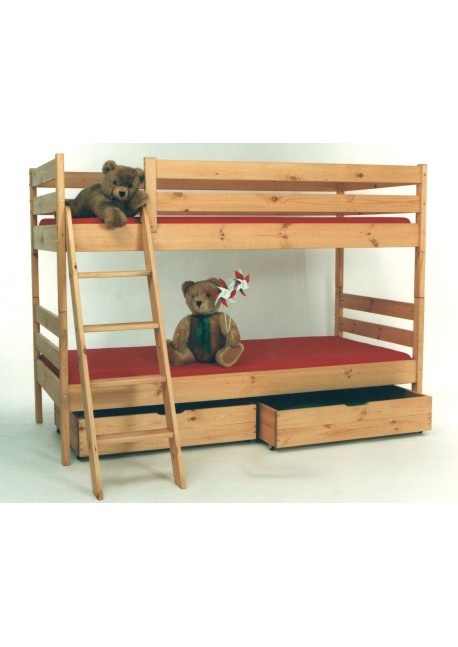 Etagenbett mit 2 Rosten und Leiter