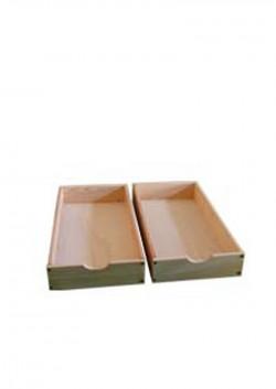 2 Bettrollkasten, Massivholz, 90 x 48 cm