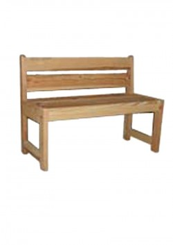 Kinder Sitzbank mit Lehne, Massivholz, Bio Qualität pur