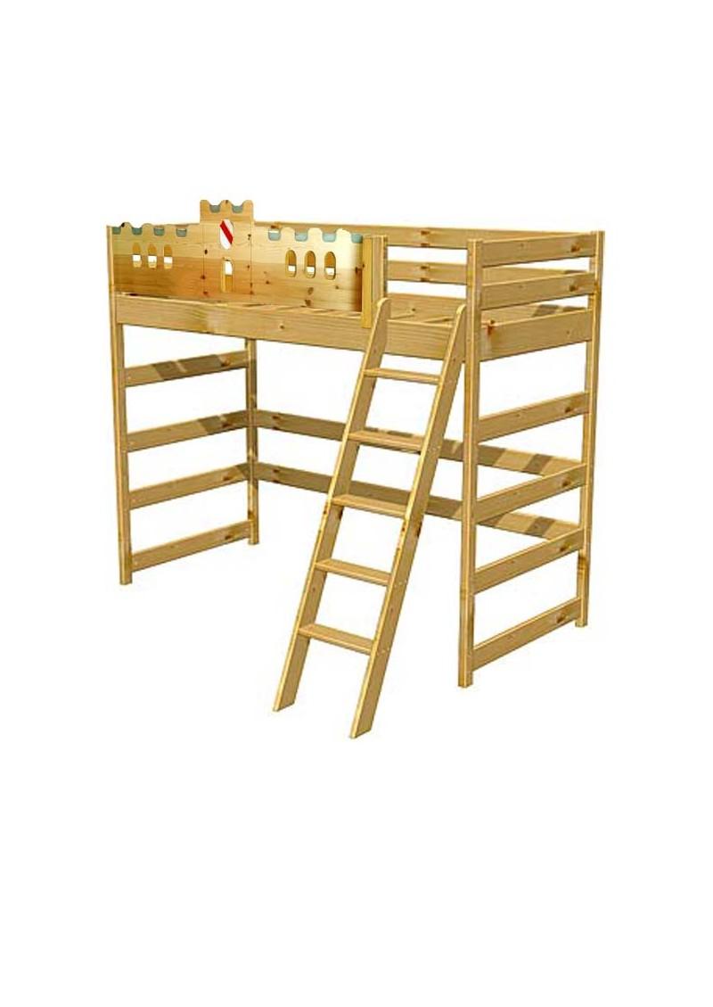 hochbett palazzo kinderhochbett aus holz massivholz aus. Black Bedroom Furniture Sets. Home Design Ideas
