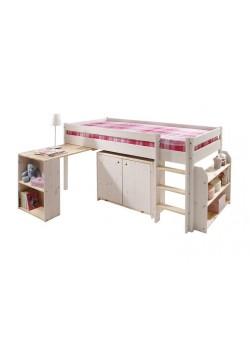"""Hochbett """"Ebrach"""" mit Schreibtisch, Halbhochbett  mit FSC ® und TÜV Zertifikat, Bio Qualität, direkt vom Hersteller"""