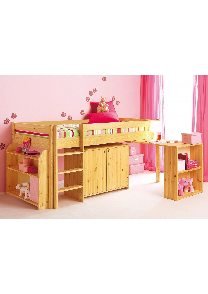 hochbett ebrach schreibtisch regal kommode rost fsc. Black Bedroom Furniture Sets. Home Design Ideas