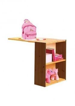 """Schreibtisch """"Ebrach"""", Holz massiv mit  Bücherregal, Vielzweckregal"""