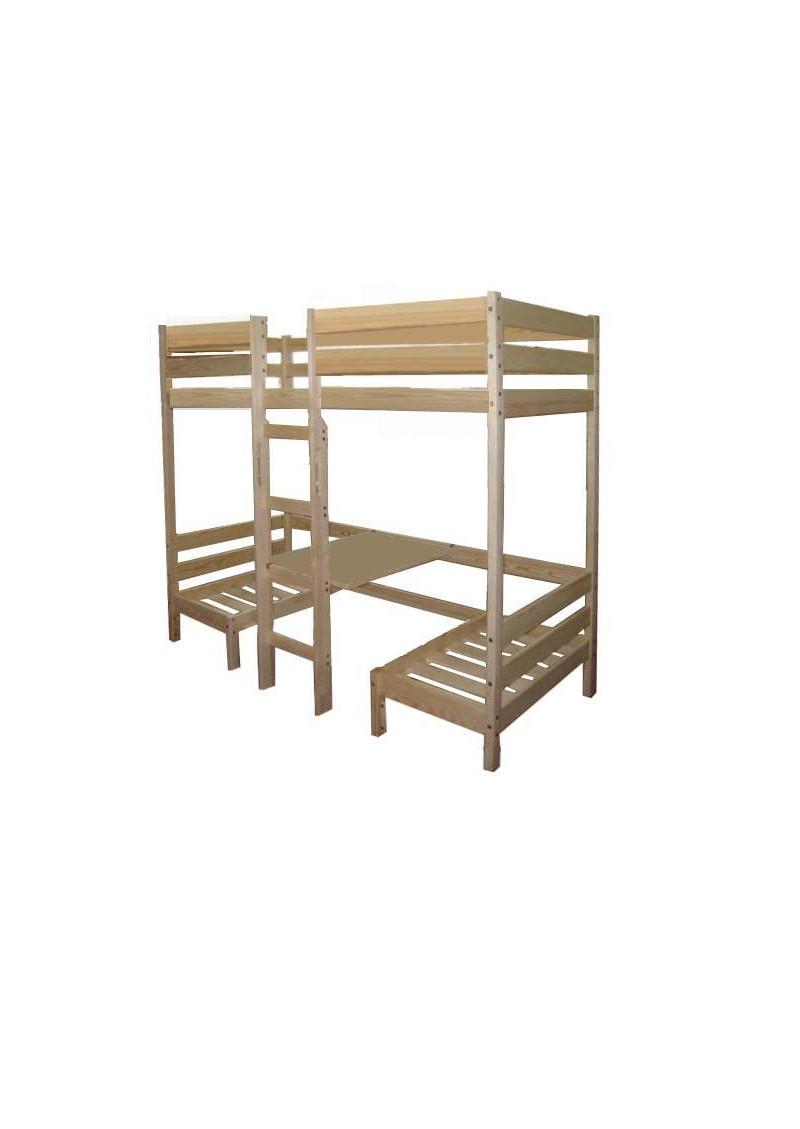 hochbett aus holz mit bank und tisch kronach massivholzkinderm bel online direkt vom. Black Bedroom Furniture Sets. Home Design Ideas