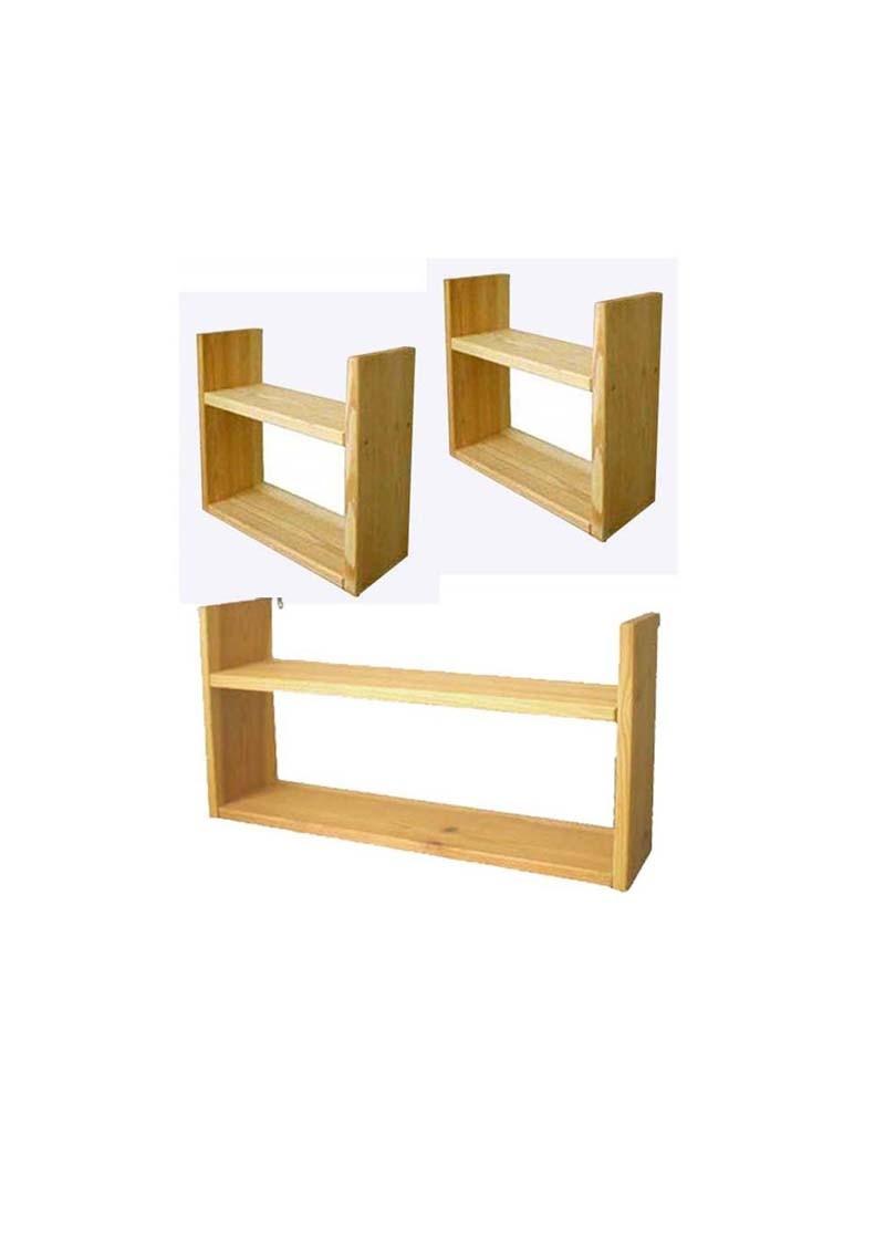 3 h ngeregale regale f r silenta kinderbetten holz. Black Bedroom Furniture Sets. Home Design Ideas
