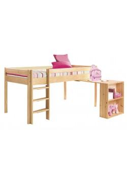 """Hochbett """"Ebrach"""" mit Schreibtisch, Rollrost, Halbhochbett,  Bio Qualität, direkt vom Hersteller"""