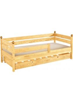 """Kinderbett""""Comtesse"""" mit Bettrollkasten mit 2. Schlafplatz, Holz FSC® mit 2 x Rost"""