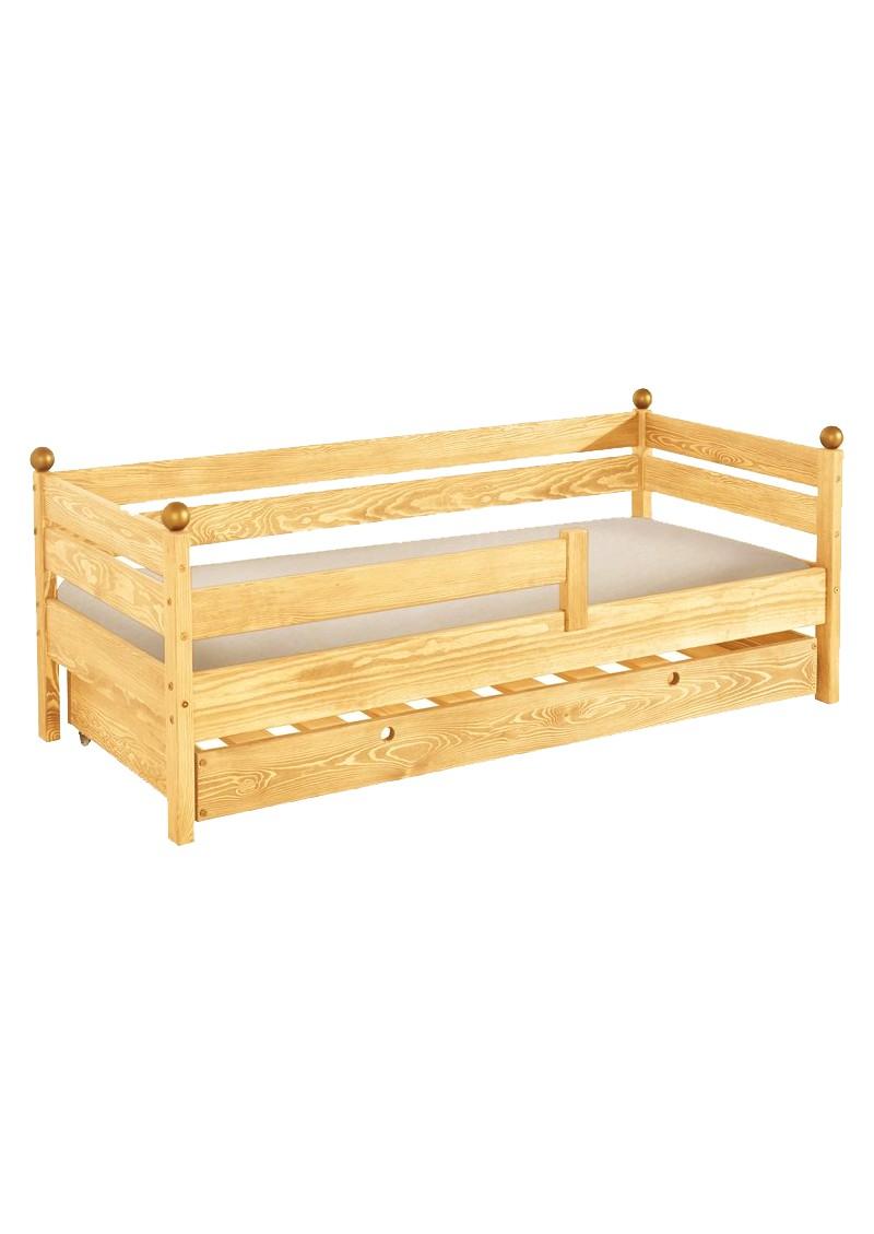 kinderbett comtesse 70 x 160 cm mit bettkasten naturholz massiv direkt vom deutschen. Black Bedroom Furniture Sets. Home Design Ideas