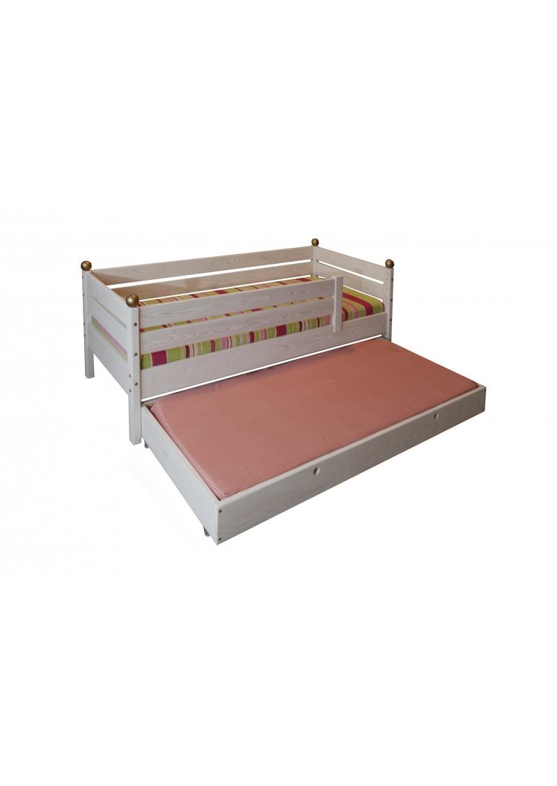 kinderbett comtesse 70 x 160 cm mit g stebett holz. Black Bedroom Furniture Sets. Home Design Ideas