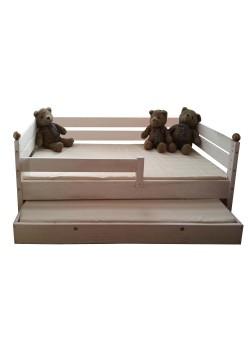 """Kinderbett """"Comtesse"""" 70 x 160 cm, mit Bettkasten, Naturholz massiv, direkt vom deutschen Hersteller bestellen"""