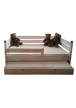 """Kinderbett """"Comtesse"""" 70 x 160 cm mit Gästebett, Holz massiv, direkt vom deutschen Hersteller bestellen"""