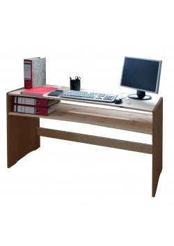 Schreibtisch, Holz massiv, 4-fach höhenverstellbar, direkt vom deutschen Hersteller