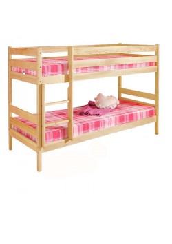 Etagenbett, Holz massiv, 2 Rollroste, Bio Qualität