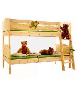 """Etagenbett """"Basis"""" Kindermöbel aus Holz massiv,  geölt, teilbar, mit Rost, direkt vom deutschen Hersteller"""