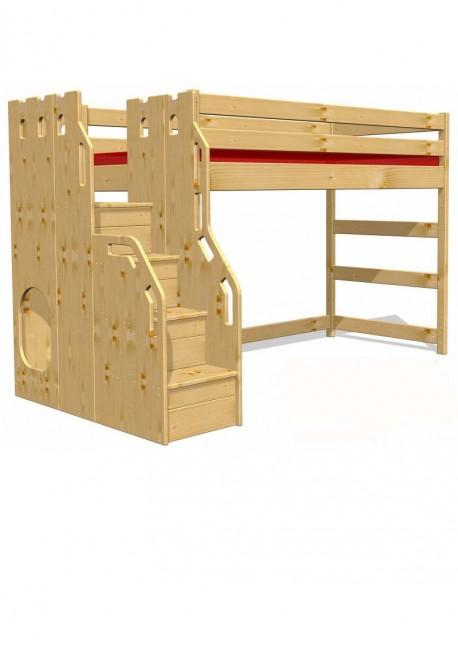 hochbett traum burg fsc zertifiziert aus nachhaltiger waldwirtschaft online vom. Black Bedroom Furniture Sets. Home Design Ideas