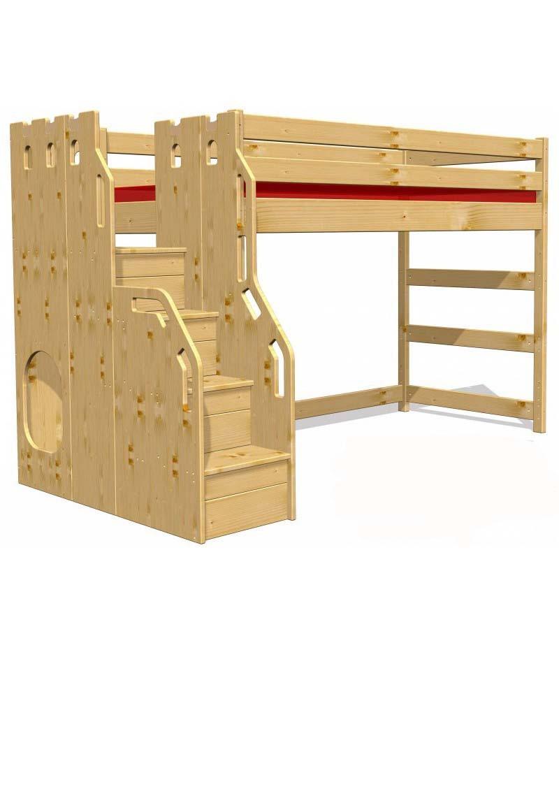 hochbett traum burg fsc zertifiziert aus nachhaltiger waldwirtschaft direkt vom. Black Bedroom Furniture Sets. Home Design Ideas