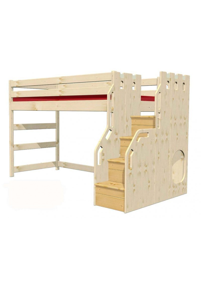 hochbett traum burg kinderm bel aus holz aus nachhaltiger waldwirtschaft online vom. Black Bedroom Furniture Sets. Home Design Ideas