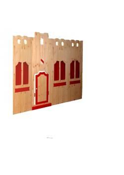 """Burgfassade """"Traumburg"""" Hochbett Massivholzkindermöbel  direkt vom deutschen Hersteller"""