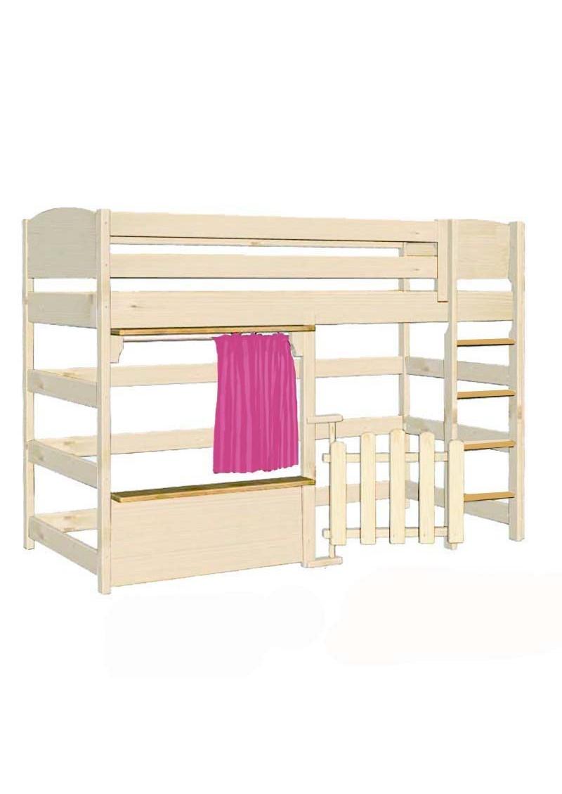 spielbett basis kinder hochbett massivholz direkt vom deutschen hersteller silenta. Black Bedroom Furniture Sets. Home Design Ideas