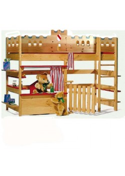"""Spielbett """"Palazzo 1"""" Kinder-Hochbett Massivholzkindermöbel  mit GS + FSC ® Kinderbett online vom Hersteller direkt bestellen,"""