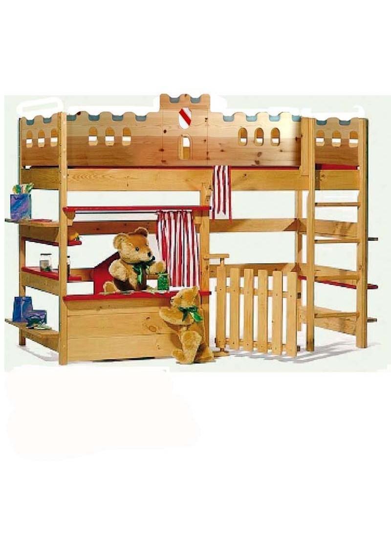 kinder hochbett spielbett palazzo 1 massivholz mit rost silenta produktions gmbh. Black Bedroom Furniture Sets. Home Design Ideas